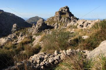 Escorca  Spanien  in den Bergen des Tramuntana-Gebirges