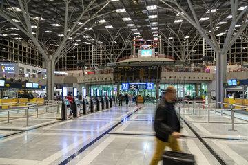 Stuttgart  Deutschland  Schalterhalle am Flughafen Stuttgart