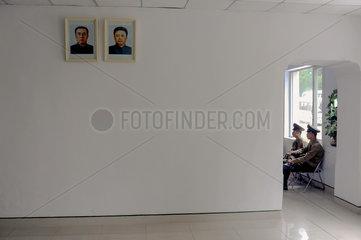 Panmunjeom  Nordkorea  nordkoreanische Wachsoldaten