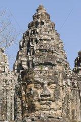 Suedliches Eingangstor von Angkor Thom / Siem Reap / Kambodscha / SUEDOSTAS