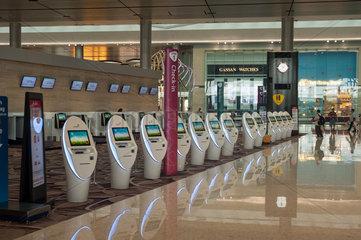 Singapur  Republik Singapur  Neues Terminal 4 am Flughafen Changi