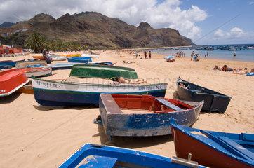 San Andres  Spanien  Fischerboote am Playa de Las Teresitas
