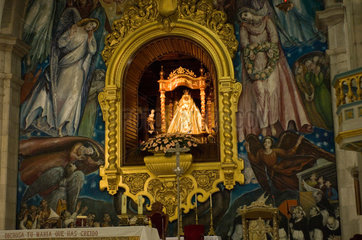Candelaria  Spanien  die Jungfrau von Candelaria in der Basilika von Candelaria