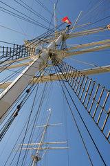 Hamburg  Deutschland  Masten des Museumschiffes Rickmer Rickmers