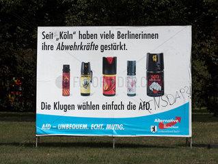 Berlin Wahlplakat AfD