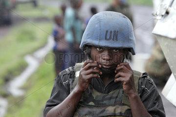 Goma  Demokratische Republik Kongo  Soldat der MONUC
