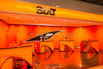 Stuttgart  Deutschland  Sixt-Autovermietung am Flughafen Stuttgart