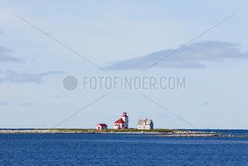 Saint Barbe  Kanada  Haus und Leuchtturm am Sankt-Lorenz-Golf