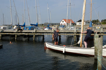 Ranum  Daenemark  Segelboote im Ronbjerg Havn