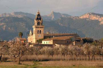 Santa Maria del Cami  Spanien  Blick auf Santa Maria mit Kirche
