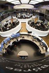Aktienhandel im Handelsraum der Boerse Frankfurt