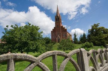 Lebbin  Polen  Blick auf die Kirche