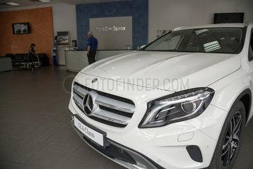 Odessa  Ukraine  ausgestellter Mercedes GLA im Mercedes-Salon