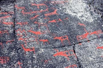 Alta  Norwegen  Felszeichnungen im Alta Museum