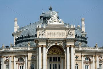 Odessa  Ukraine  Detailaufnahme des Opernhaus im Stadtzentrum