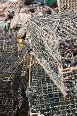 Fishing traps  close-up