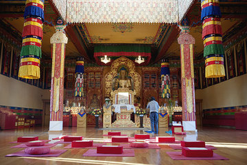 Shrine in Karma Triyana Dharmachakra Tibetan Buddhist Monastery  Woodstock  New York  USA