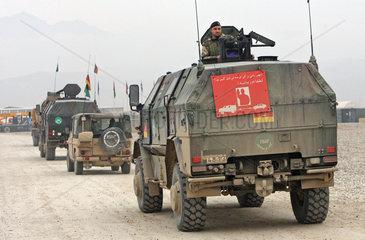 Mazar-e Sharif  Afghanistan  Truppentransporter Dingo im Camp Marmal