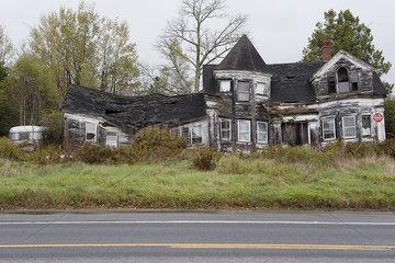 Abandoned  dilapidated house