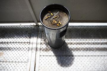 Cigarette butts in ashtray