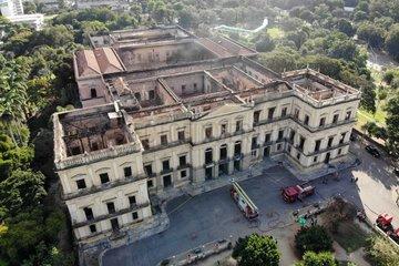 BRAZIL-RIO DE JANEIRO-NATIONAL MUSEUM-FIRE-AFTERMATH