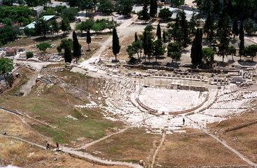 Das Dionysos-Theater an der Akropolis  Athen