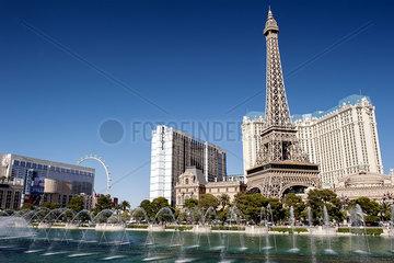 Luxury hotels on the Las Vegas Strip  Las Vegas  Nevada  USA