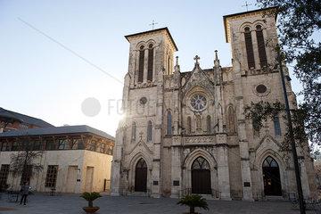 Cathedral of San Fernando in San Antonio  Texas  USA