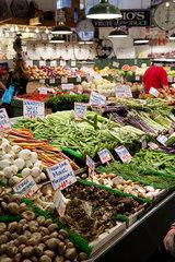 Fresh produce in supermarket