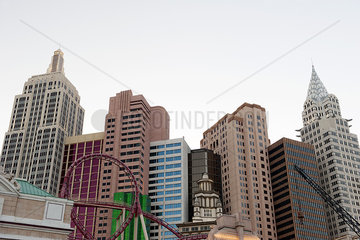 New York - New York Hotel and Casino in Las Vegas  Nevada  USA
