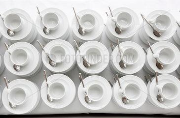 Deutschland  Kaffeepause bei einer Konferenz