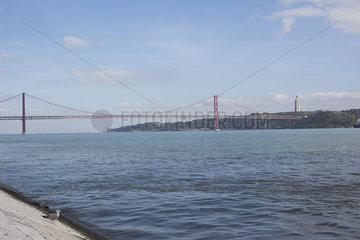 25 de Abril Bridge in Lisbon  Portugal