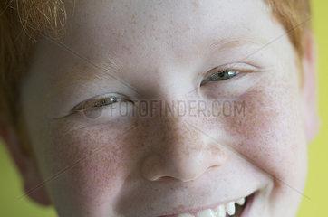 Boy smiling cheerfully  portrait