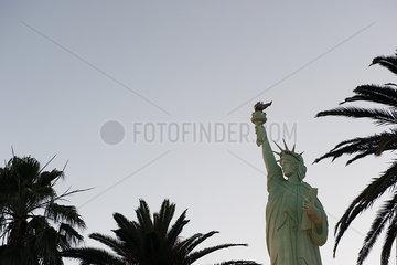 Statue of Liberty replica in Las Vegas  Nevada  USA