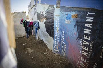 Unterkuenfte in einem Fluechtlingscamp in der Bekaa-Ebene