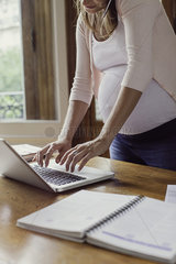 Woman scheduling appointment online