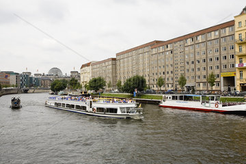 Germany  Berlin  tour boat on the River Spree