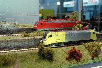Nuernberg  Spielwarenmesse - Modelllokomotiven