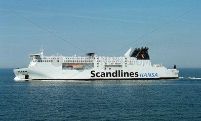 Scandlines-Faehre auf der Ostsee