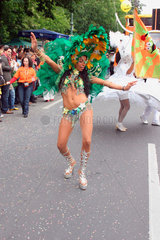 Berlin - brazilian Samba dancers at the carnival of culture