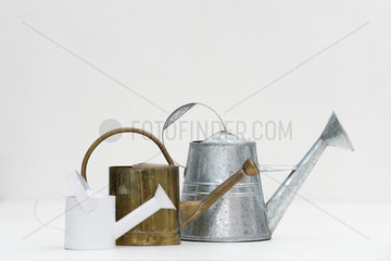 Watering cans of various sizes