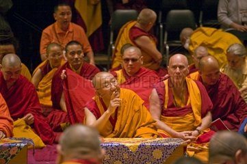 ARJIA RIMPOCHE  the director of the TIBETAN MONGOLIAN CULTURAL CENTER sponsors a Buddhist teaching by the 14th DALAI LAMA of Tibet