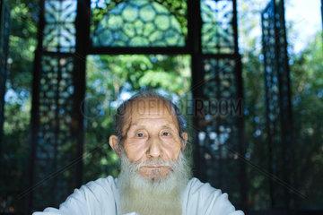 Elderly man with long beard  portrait