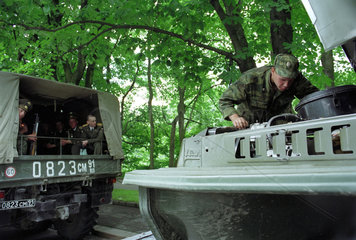 Russischer Soldat  Kaliningrad  Russland