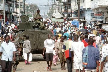 Liberia  ECOMOG Friedenstruppe in Monrovia.