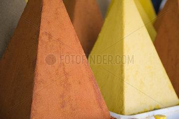 Moroccan spice pyramids