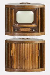 Fernseher Blaupunkt V52  offen und geschlossen  1951