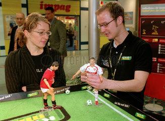 Nuernberg  Spielwarenmesse - Messeneuheit Kick-o-Mania