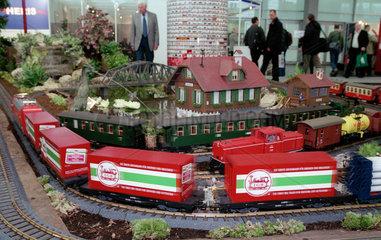 Nuernberg  Spielwarenmesse - Modellbahnanlage von LGB