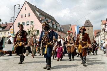 Altdorf  Deutschland  Kosaken bei den mittelalterliche Wallenstein-Festspielen